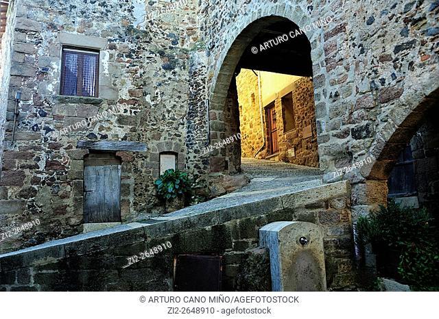 Santa Pau. La Garrotxa, Girona province, Spain
