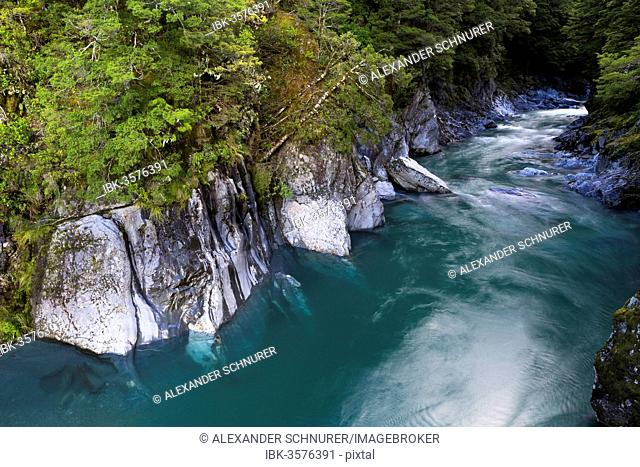 The Blue Pools, Makarora, Otago Region, New Zealand