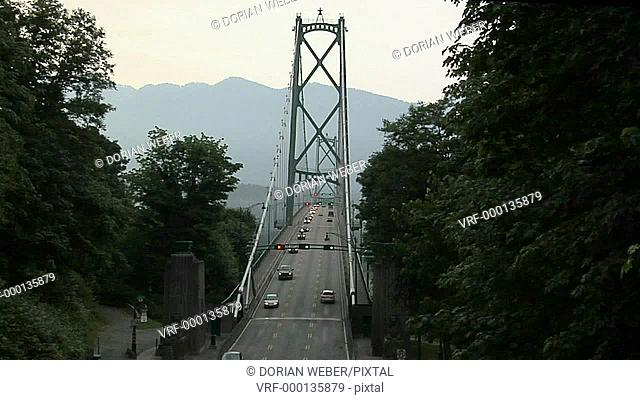 Lions Gate Bridge Traffic, Vancouver