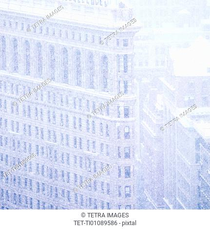 Flatiron building in winter