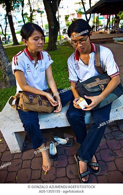 Students. Ho Chi Minh City (formerly Saigon). South Vietnam
