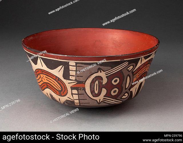 Bowl Depicting Composite Feline and Serpent - 180 B.C./A.D. 500 - Nazca South coast, Peru - Artist: Nazca, Origin: Peru, Date: 180 BC–500 AD