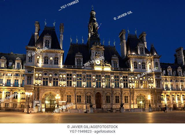 Hotel de Ville, Paris, Ile de France, France
