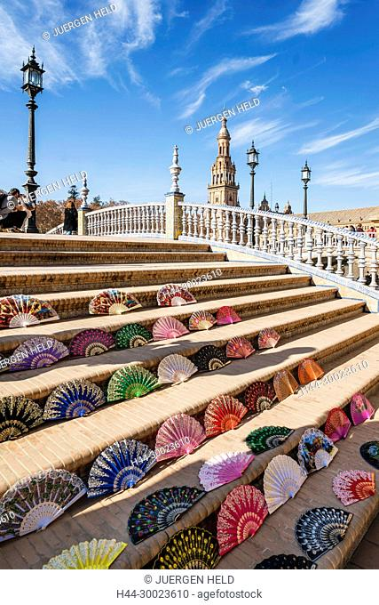 Placa de Espana, spanish square, Seville, Andalusia, Spain