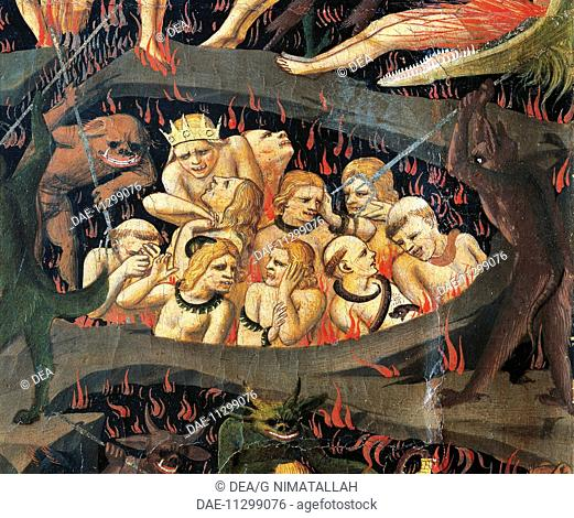 The Last Judgement, by Giovanni da Fiesole known as Beato Angelico (ca 1400-1455), tempera on wood. Detail.  Florence, Museo Di San Marco (Art Museum)