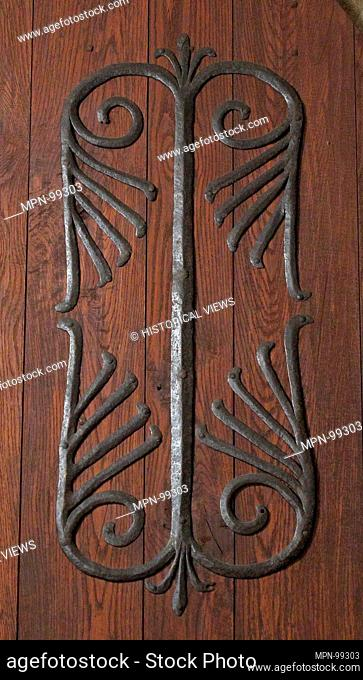Door Mount. Date: possibly 11th century; Geography: Made in Limousin, France; Culture: French; Medium: Iron; Dimensions: Overall: 17 1/2 x 42 in. (44