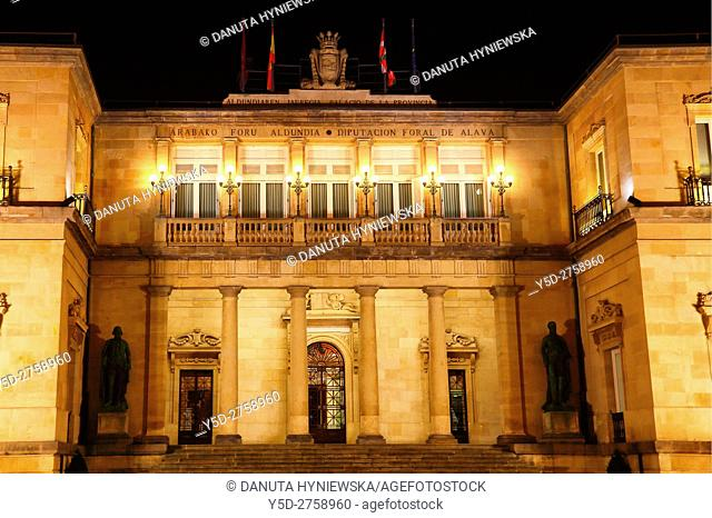 Palacio de la Provincia - Diputación Foral de Álava, Plaza de la Provincia, Vitoria-Gasteiz, Alava, Basque Country, Spain, Europe