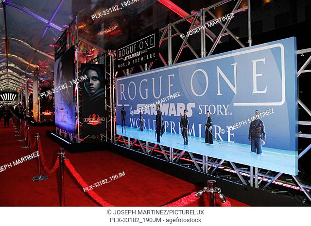 """Atmosphere at the world premiere of """"""""Rogue One: A Star Wars Story"""""""" held at the Pantages Theatre in Hollywood, CA, December 10, 2016"""
