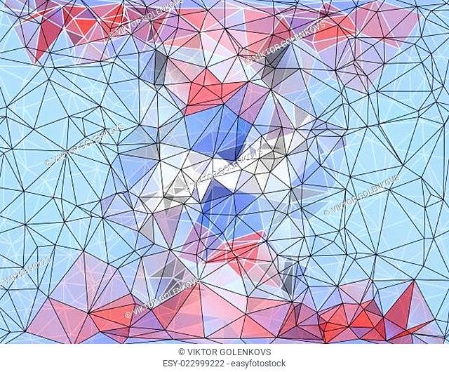 Colorful Polygonal Mosaic Background