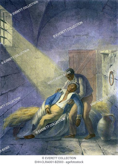 Death of Toussaint L'Ouverture (1843-1803), leader of the Haitian independence movement against French colonial government