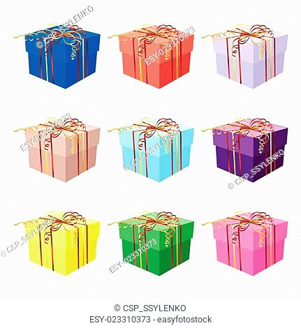 Christmas with gift box on blue background