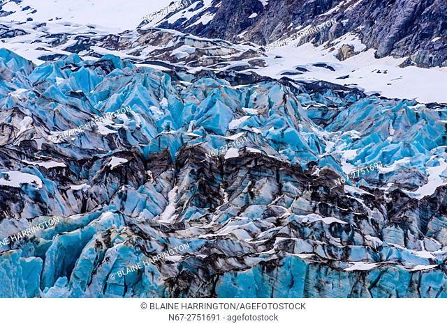 Lamplugh Glacier, Glacier Bay National Park (a UNESCO World Heritage Site), Southeast Alaska USA