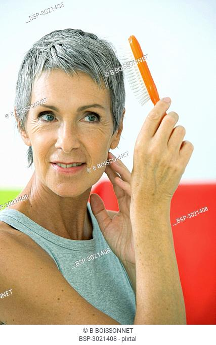 HAIR CARE, ELDERLY PERSON Model
