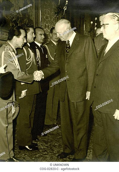 Presidents Eisenhower and Gronchi, Italy and USA
