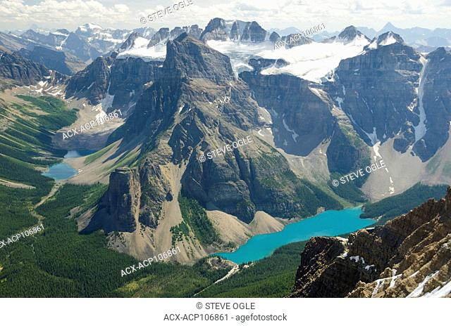 Moraine Lake from the summit of Mount Temple, Banff National Park, Alberta