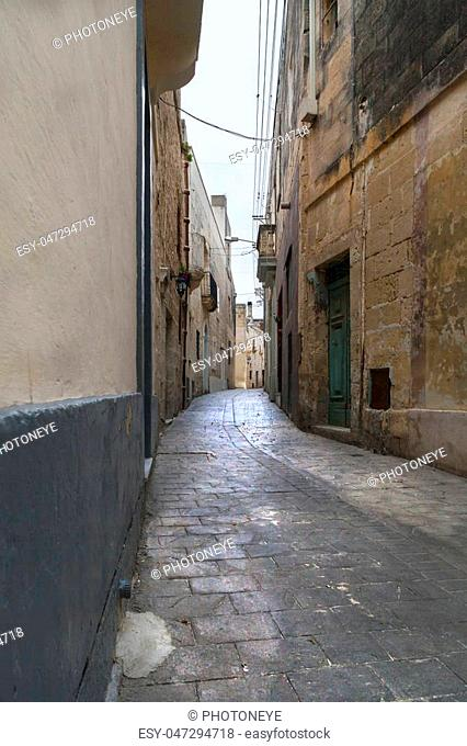 narrow small street in malta
