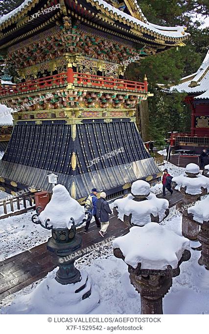 A pagoda at Toshogu Temple, Nikko, Japan