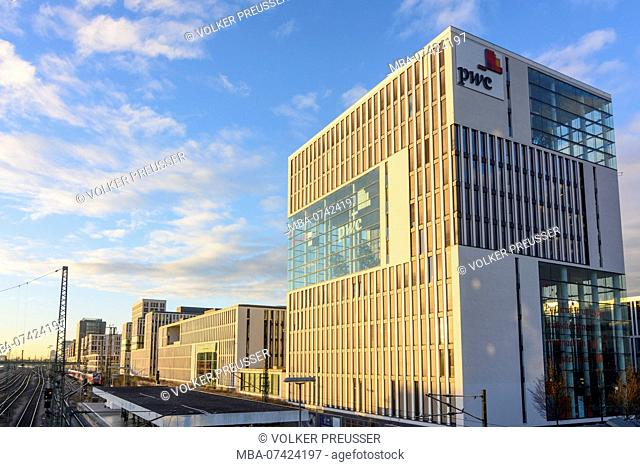 München, Munich, PricewaterhouseCoopers (PwC) office building, Upper Bavaria, Bavaria, Germany