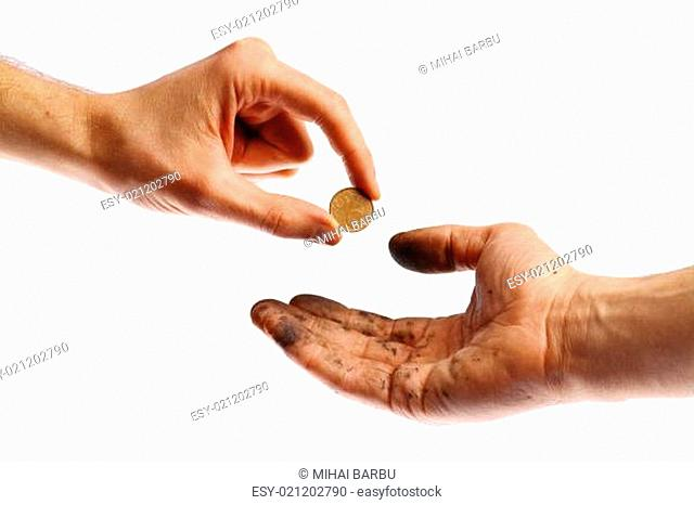 Begging for a coin