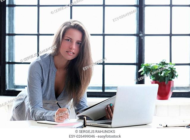 Beautiful woman in the office