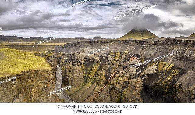 Markarfljotsgljufur Canyon, Central Highlands, Iceland