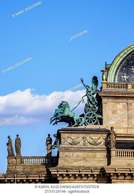 National Theatre, detailed view, Prague, Bohemia Region, Czech Republic