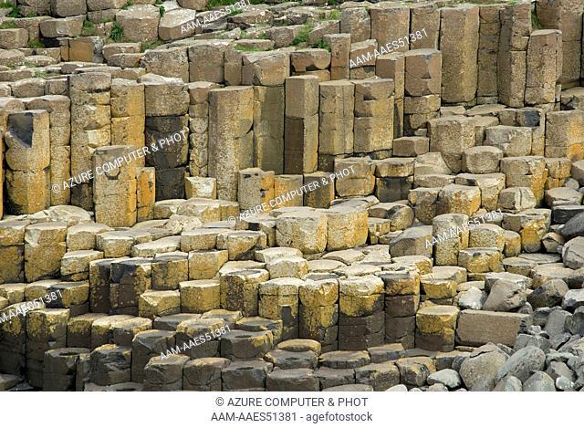 Basalt columns on Giant's Causeway, Northern Ireland United Kingdom