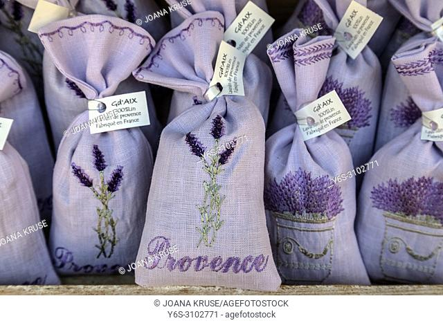 Lourmarin, lavender bags, Vaucluse, Provence, France