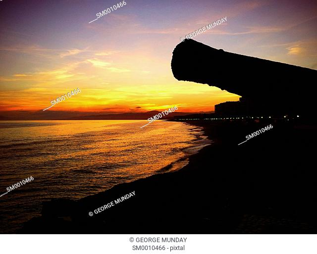 Old Cannon on the Seafront at Torrox Costa, Costa del Sol, Malaga, Spain