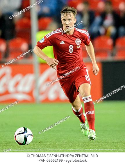 Denmark's Lasse Vigen Christensen pictured during the European Championship under-21s soccer match between Germany and Denmark in the Synot Tip Arena in Prague
