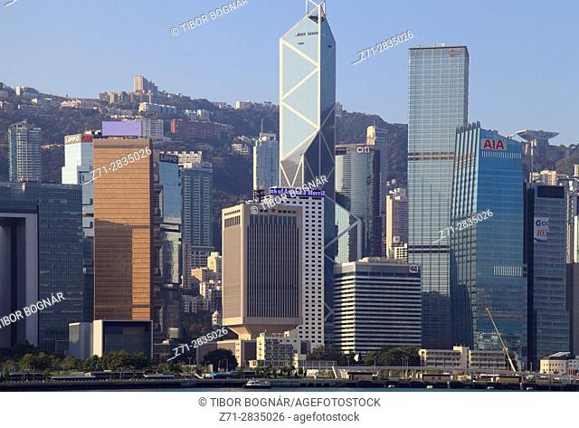China, Hong Kong, Central district, skyline,