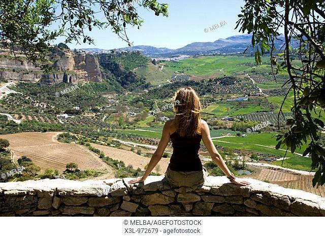 Ronda landscape  Malaga  Andalusia  Spain