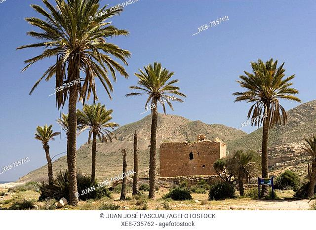 Old Christian castle (15th century), Rodalquilar, Cabo de Gata-Nijar Natural Park. Almeria province, Andalucia, Spain