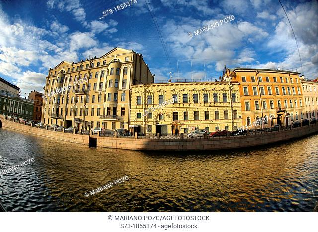 Channel in Saint Petersburg, Russian Federation