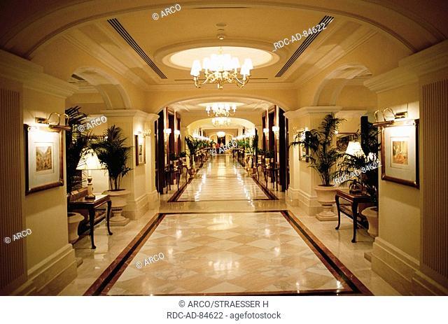 Corridor on the Imperial Hotel, New Dehli, India