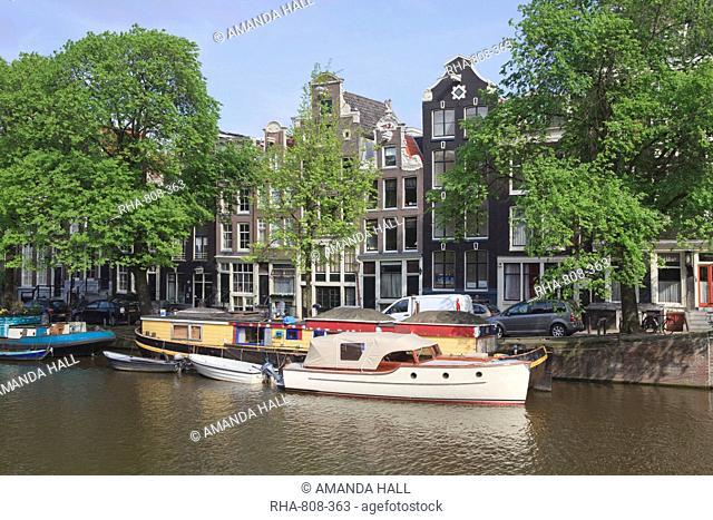 Canal scene, Amsterdam, Netherlands, Europe