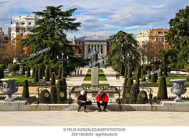 Buen Retiro Park, Its Gardens and the Prado Museum in the background
