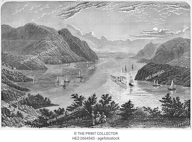 'View of the Hudson from the Vicinity of West-Point', 1883. Artist: Littell