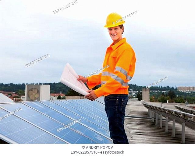 Engineer Holding Blueprint