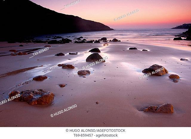 Beach in the north of Spain (Llanes - Asturias)