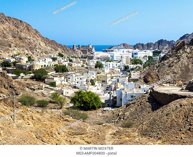 Oman, Muscat, Old town, Fort Mirani and Fort Al-Mirani