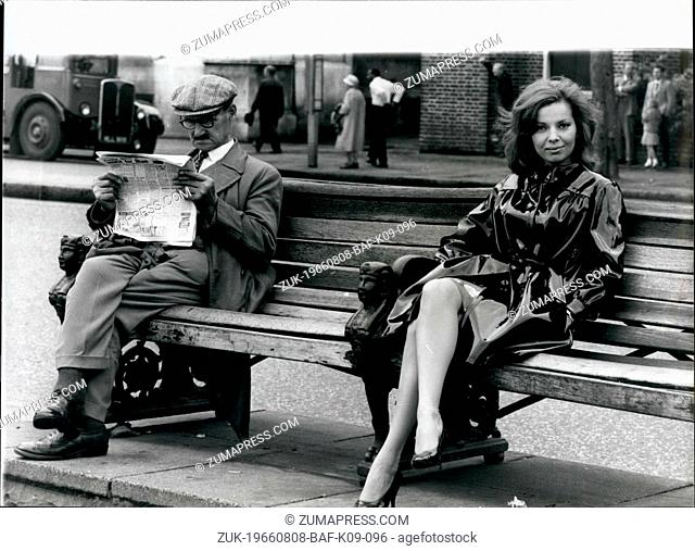Aug. 08, 1966 - A Flying Visit To Her Favorite City: Whilst exploring London, the City she loves, American singer, Abbe Lane, pauses for a sit down on a bench