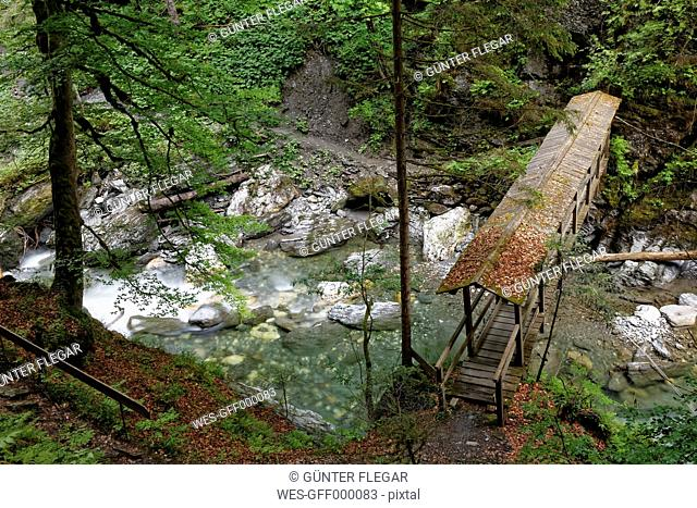 Austria, Styria, View of bridge in Enns valley