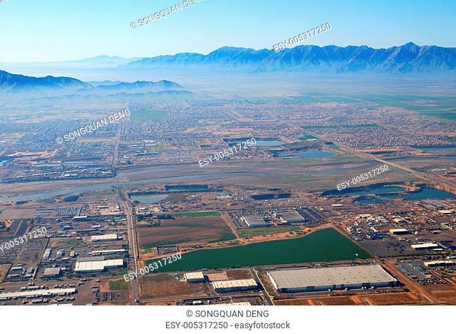 Aerial view of Phoenix city, Arizona