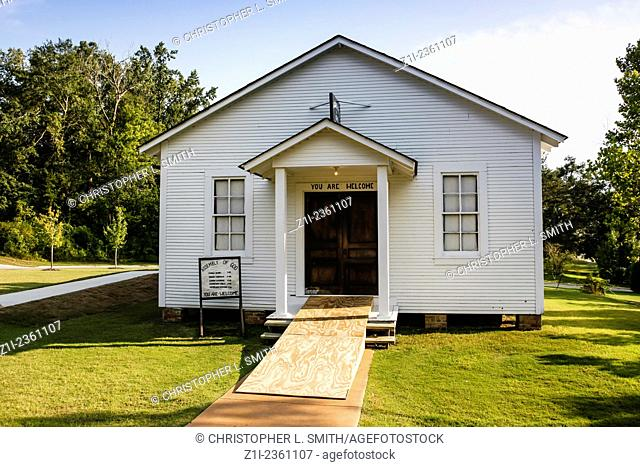 Elvis Presley's childhood church in Tupelo MS, where his talent was recognised by his parents at an early age