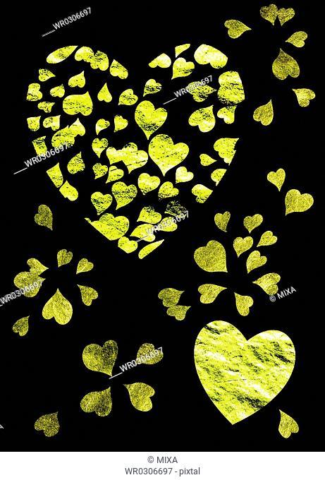 Heart Shaped Gold Foil