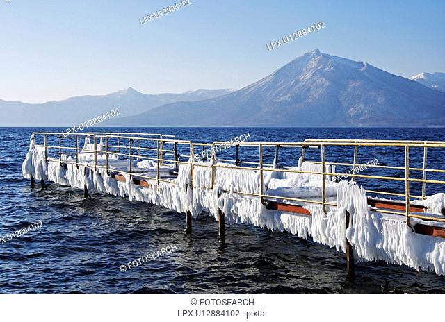 Lake Shikotsu In Winter