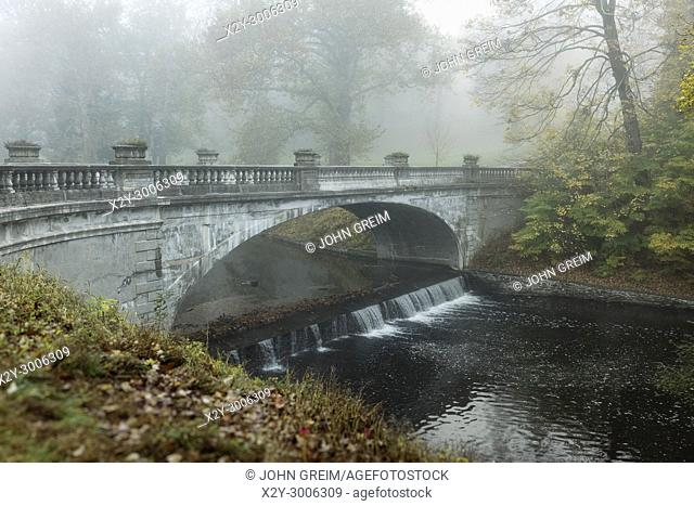 The White Bridge, Vanderbilt Mansion National Historic Site, Hyde Park, New York, USA