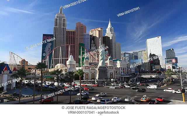 USA-Nevada-Las Vegas City-The Strip Avenue-New York New York Hotel Casino