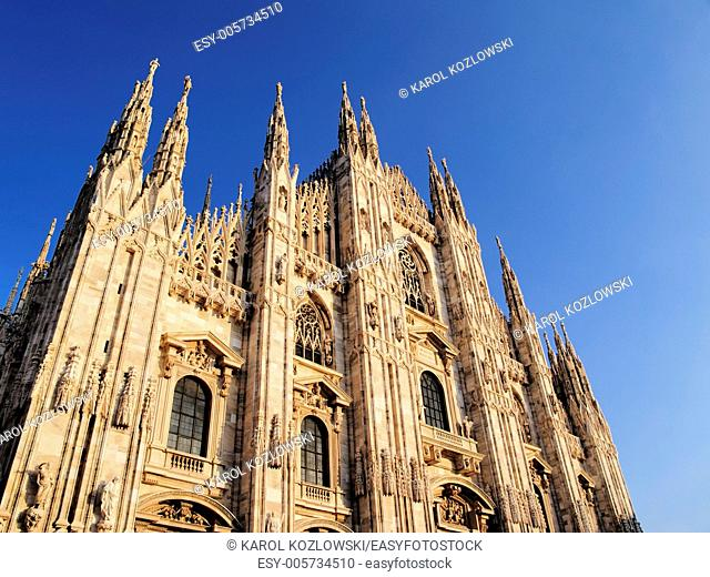 Beautiful Gothic Cathedral in Milan, Lombardy, Italy